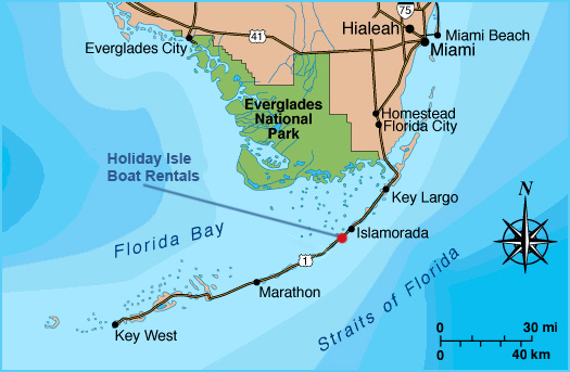 Florida Keys Map With Mile Markers.Get In Touch Holiday Isle Boat Rentals